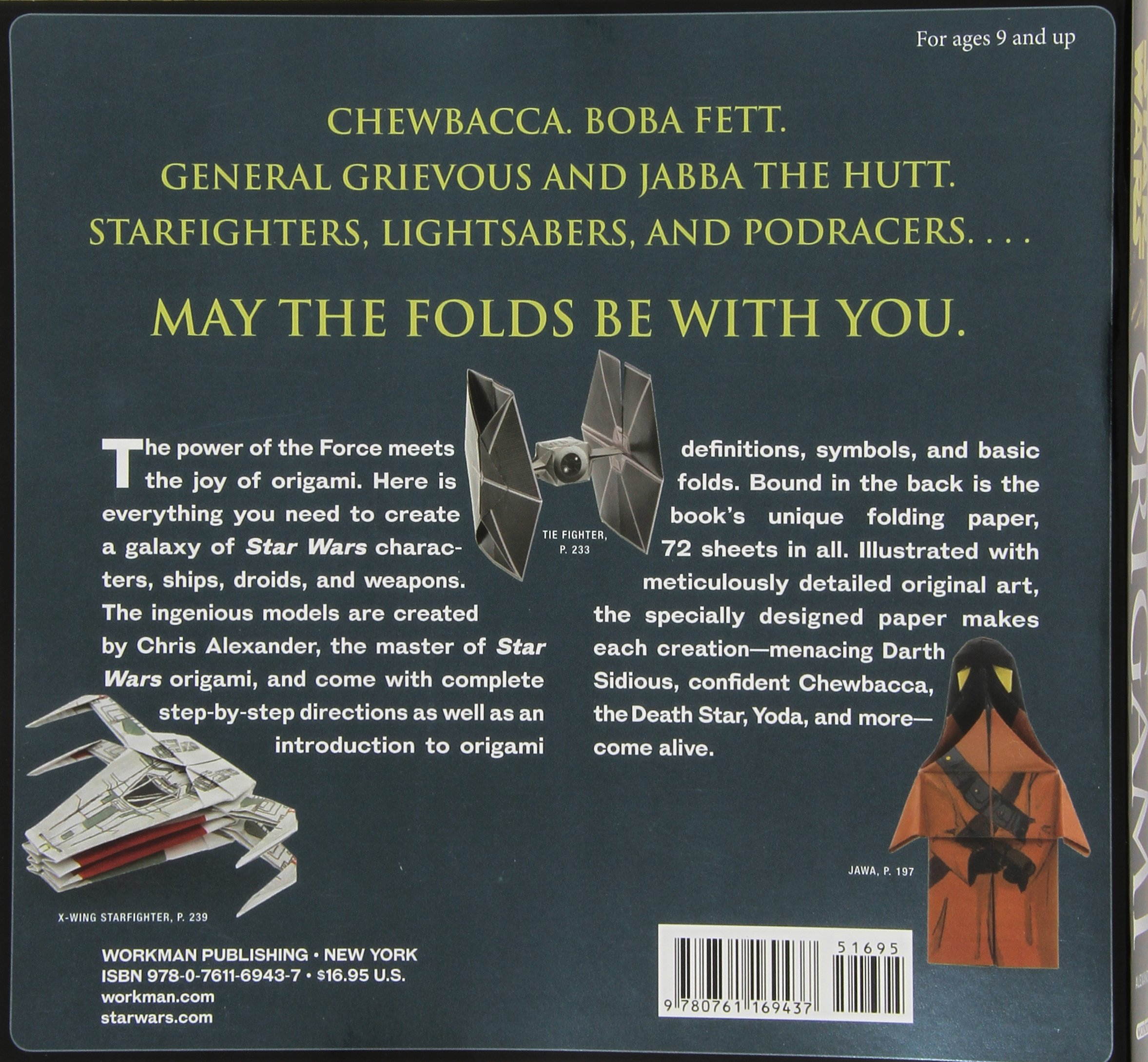 Star Wars Origami: 36 Amazing Paper-folding Projects from a Galaxy Far, Far Away.... by Workman Publishing (Image #2)