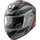 Kinn- XS Nexo Integralhelm Motorradhelm Helm Motorrad Mopedhelm Fiberglas Doppel-D-Verschluss XXL // 2XL Sonnenblende kratzfestes Visier Kopfbel/üftung