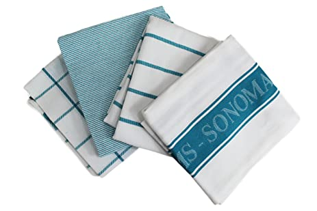 Williams Sonoma Kitchen Towels (Set Of 4) (Aqua)