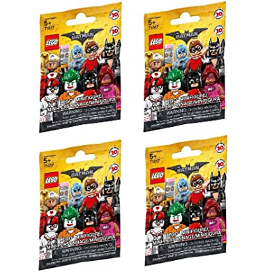 LEGO, The LEGO Batman Movie Minifigures Bundle of 4 (71017) Styles May Vary: Toys & Games