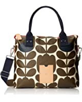 Orla Kiely Matt Laminated Tulip Stem-Print Zip Messenger Cross-Body Bag