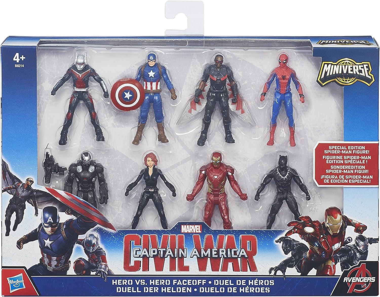 Marvel Capitán América - Pack con Figuras de colección Civil War ...