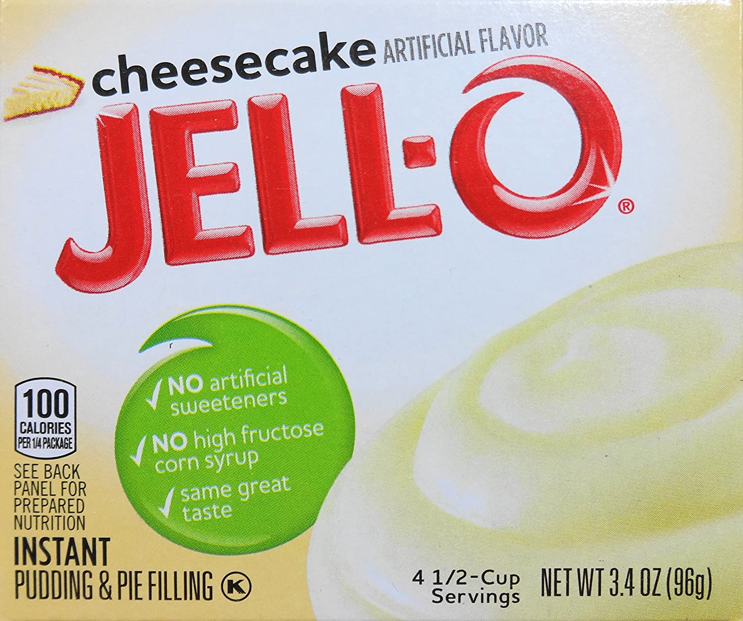 Jell-O Instant Pudding & Pie Filling, Cheesecake Flavor, 3.4-Ounce Boxes (Pack of 5)