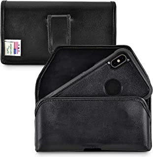 product image for Turtleback Holster Designed for iPhone 11 Pro Max (2019) / XS Max (2018) Fits with OTTERBOX Commuter, Black Leather Belt Case Pouch with Executive Belt Clip, Horizontal Made in USA