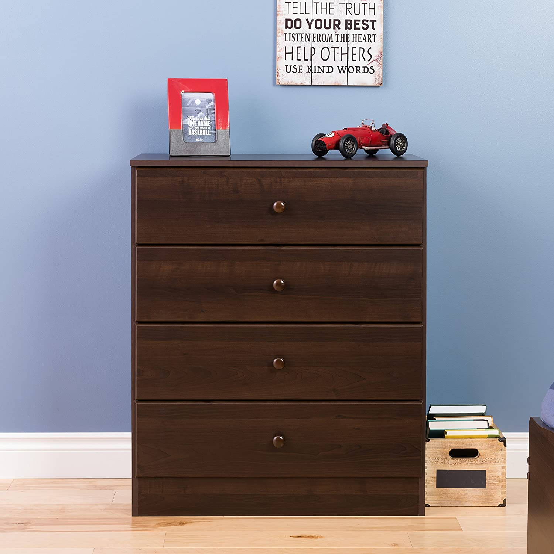Prepac Astrid 4 Drawer Dresser, Espresso