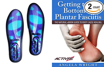 f41062ccac Activre Orthotic Inserts - Plantar Fasciitis Support - Insoles for Men &  Women - Shock Absorbing
