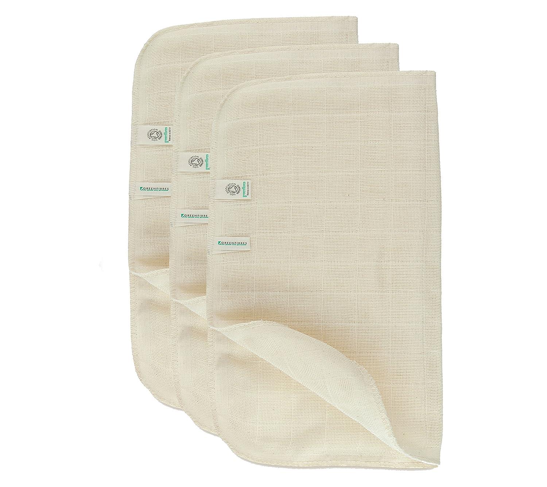 Green Fibres Set of 2 Organic Cotton Muslin Face Cloth … 1807-2