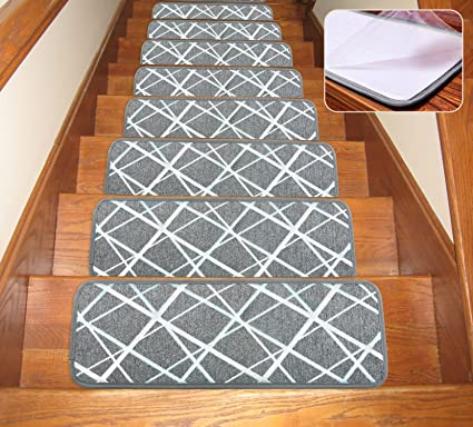 Soloom Non Slip Washable Stair Treads Carpet With Skid Resistant Rubber  Backing Specialized For Indoor