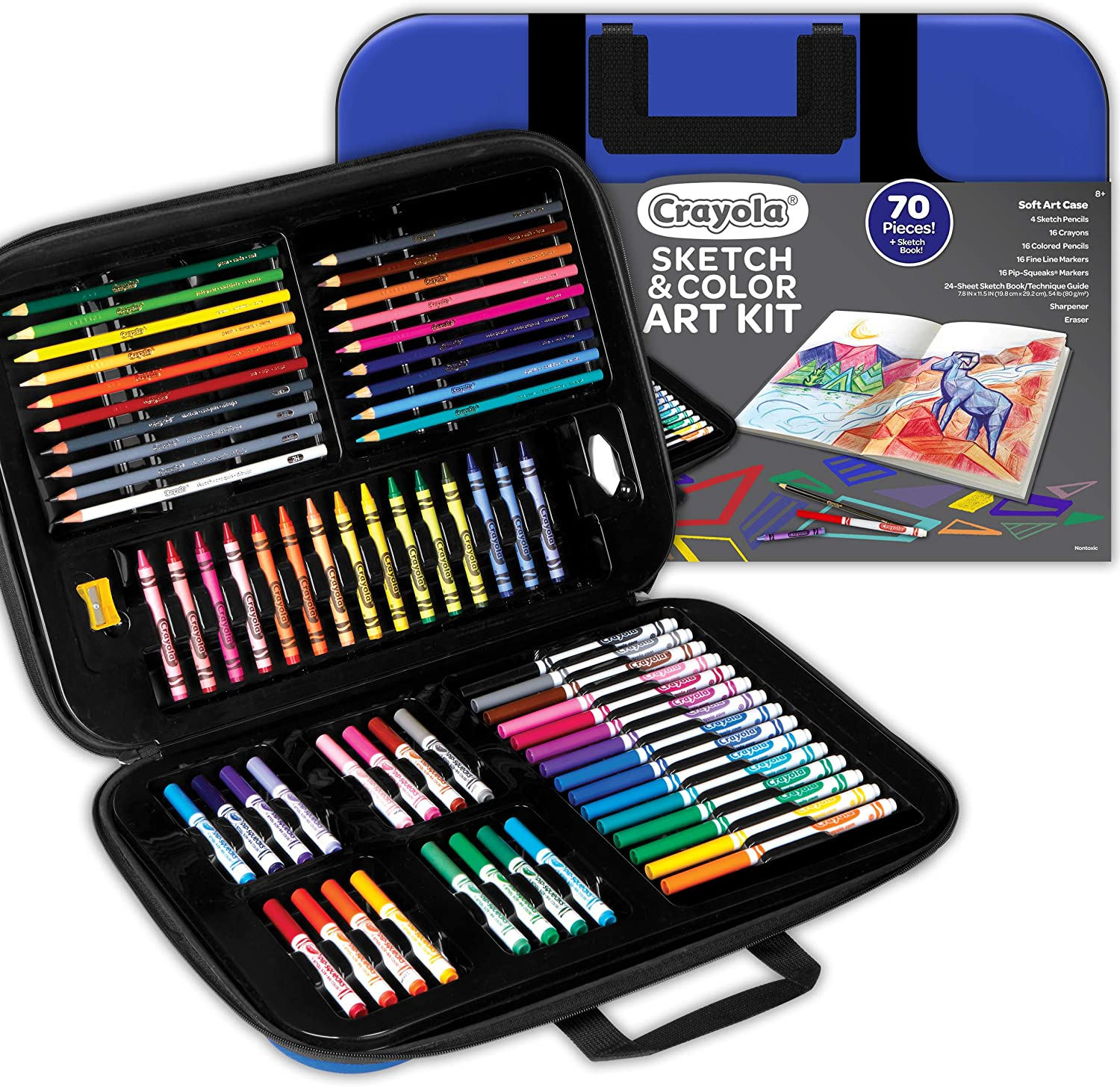Gift for Kids 9 Over 80 Pieces 10 Crayola Coloring and Sketching Set 8 11