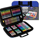 Crayola Coloring and Sketching Set, 80+ Pcs, Gift for Kids, 8, 9, 10, 11