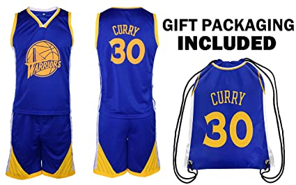 new style 51d04 7a718 Steph Curry Jersey Kids Basketball Curry Jersey & Shorts Youth Gift Set ✓  Premium Quality ✓ Basketball Backpack GIFT PACKAGING ✓