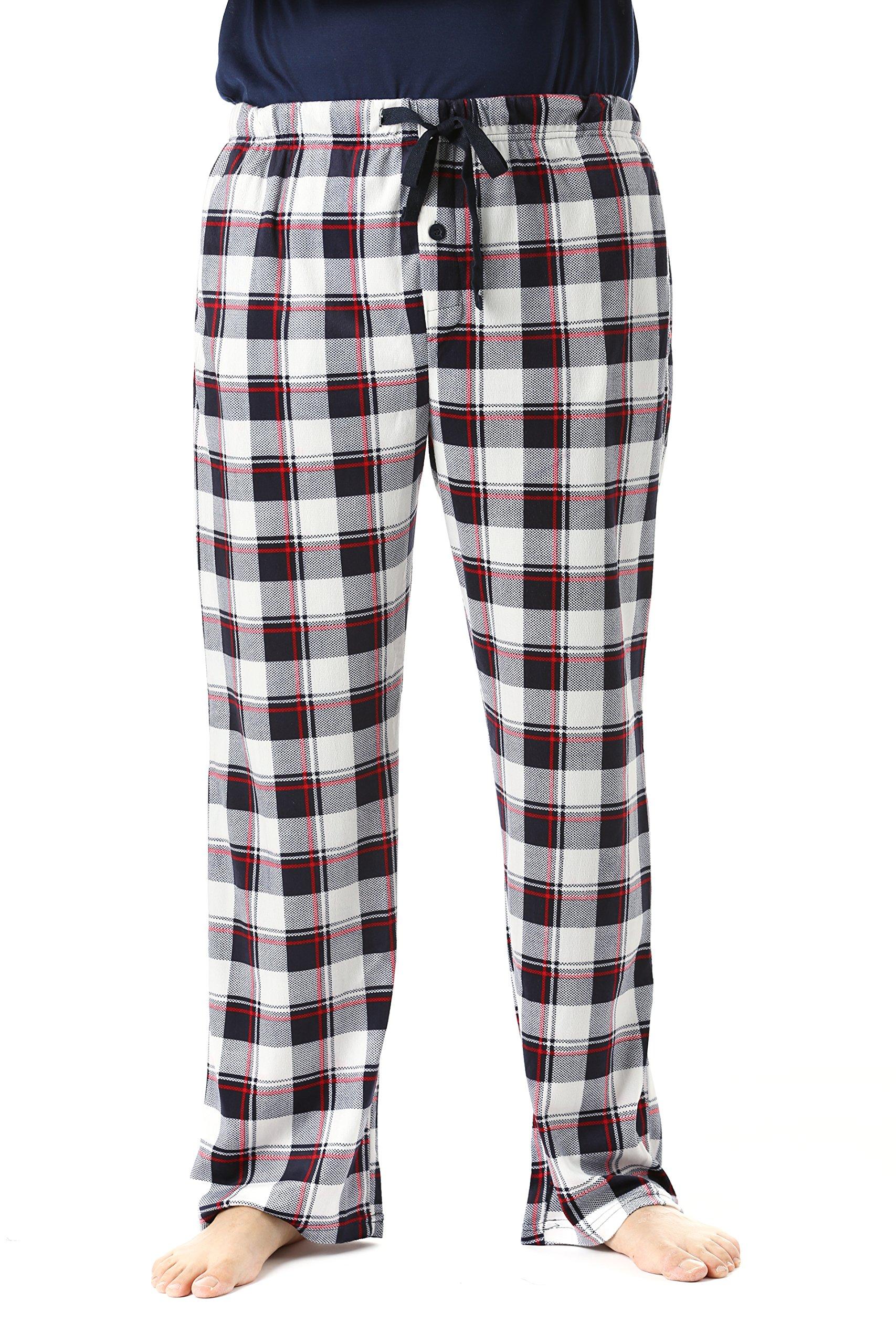 #FollowMe 45903-17-L Fleece Pajama Pants for Men/Sleepwear/PJs,Plaid 17,Large by #followme (Image #1)