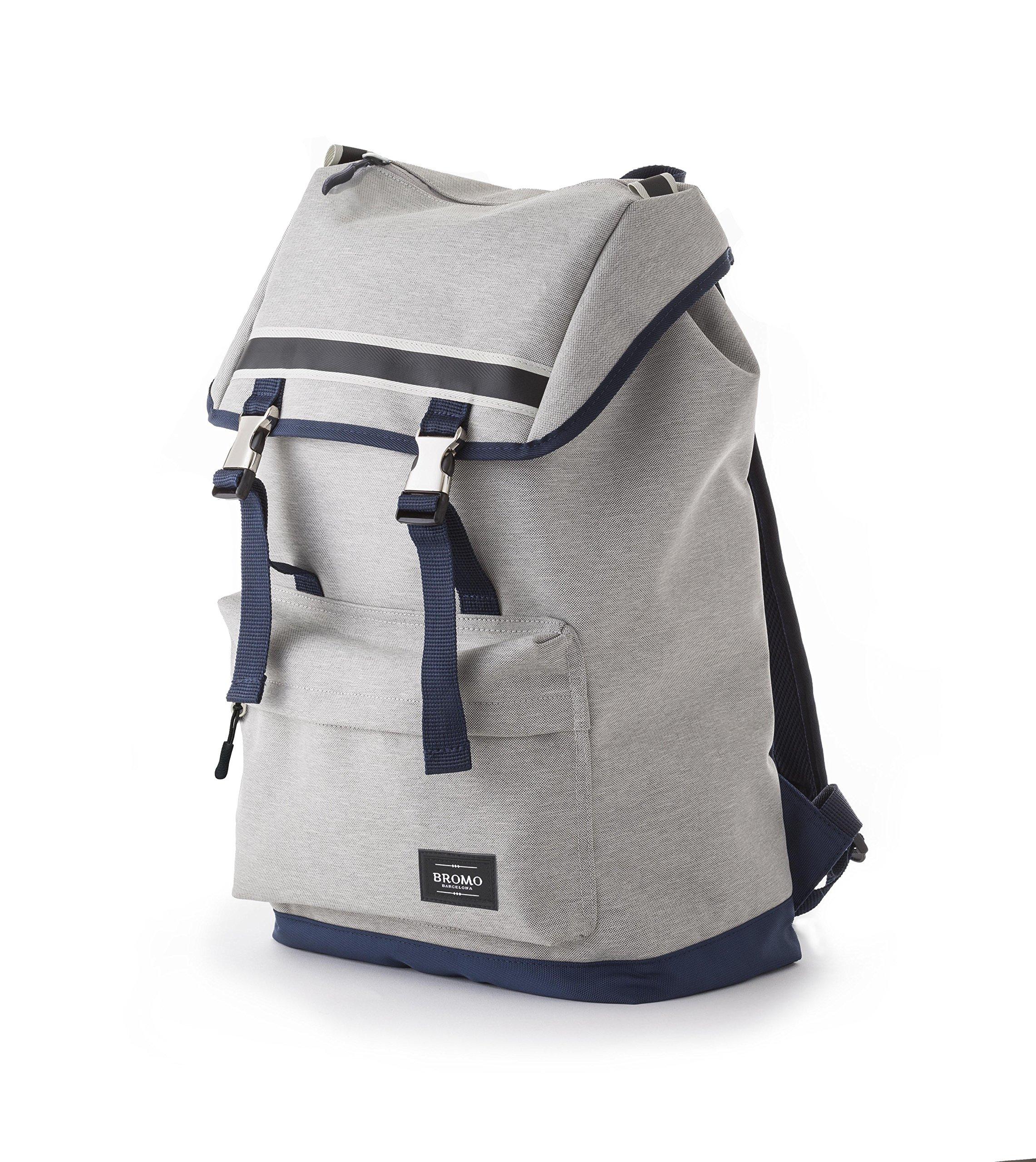 BROMO BARCELONA ALPA Backpack Compatible with 12 13 15 inch MacBook   15'' Laptop, Tablet Pocket   Laptop Bag for Women Men   Water Resistant Rucksack, Lightweight Canvas, Flip Cover, Zipper Pockets