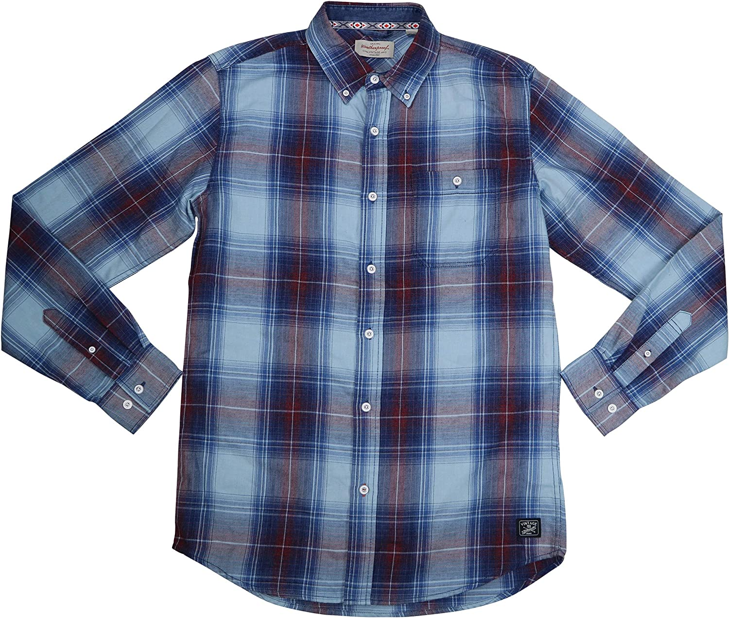 Weatherproof Mens Brushed Flannel Button Up Shirt