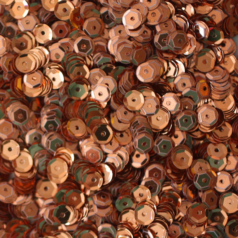 Brown #2 5mm Round Cup Sequins Metallic Loose 1,000 pieces