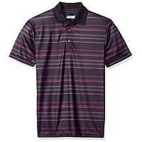 PGA TOUR Men's Short Sleeve Energy Airflux Printed Striped Polo
