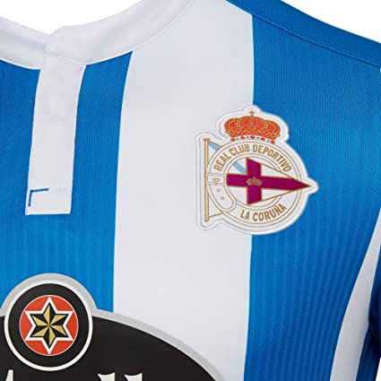 fedb7e7724f Amazon.com   Macron Deportivo La Coruna Home Shirt 2018 19 (Adults)-Small    Sports   Outdoors