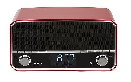 Nikkei NPR450 Reloj Digital Rojo - Radio (Reloj, Digital, Am,FM,