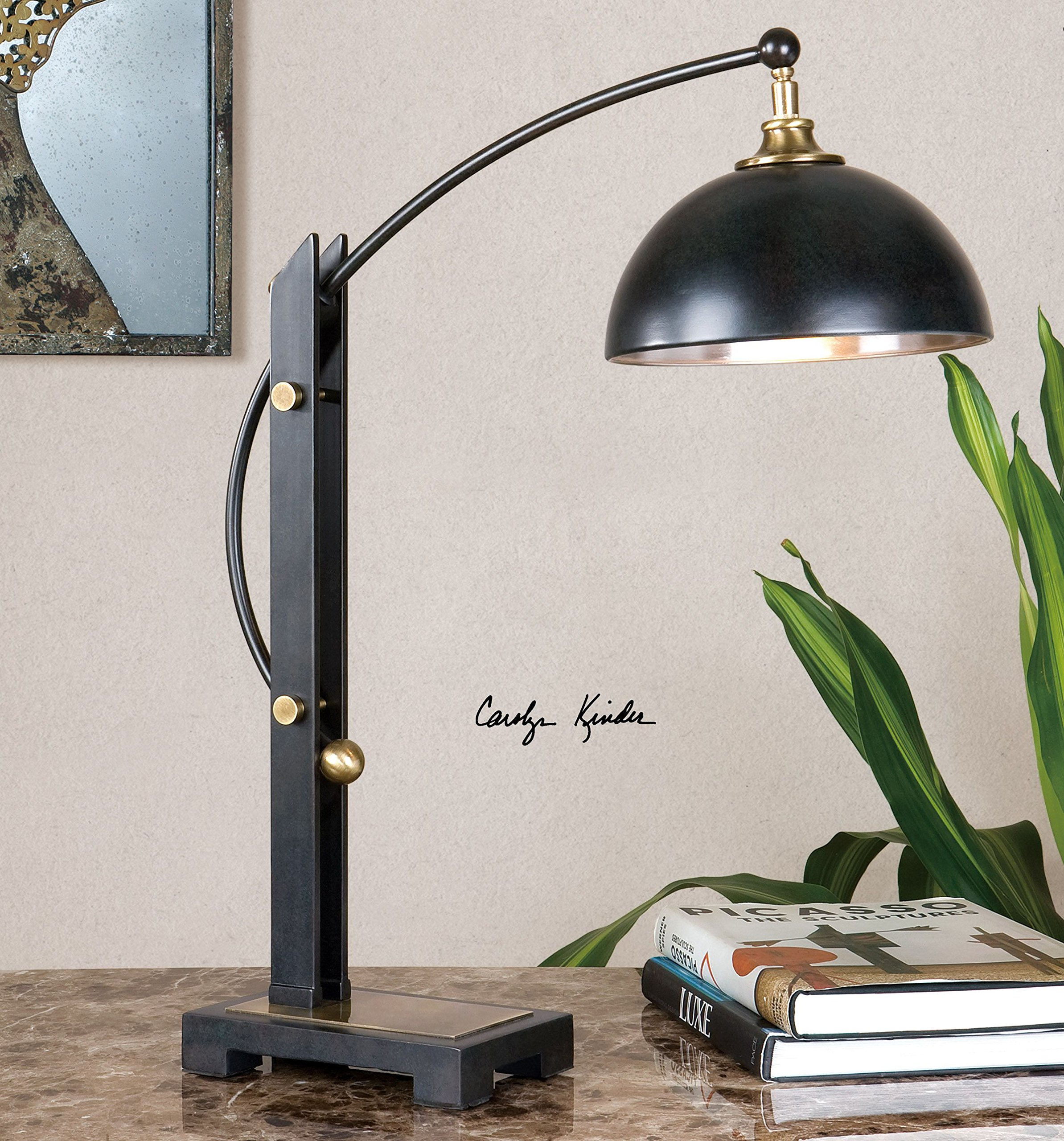 Uttermost 29587-1 Malcolm Oil Rubbed Bronze Desk Lamp by Uttermost (Image #2)