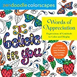 Zendoodle Colorscapes: Words of Appreciation: Expressions of Gratitude to Color and Display