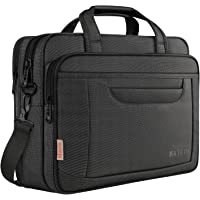 Laptop bag, 15.6 inch Multifuntional Business Computer Laptop Case, Unisex Spacious Laptop Sleeve Shoulder Messenger Bag for Women and Men, Universal Nylon Briefcase Bag for Tablet/Notebook-Black Grey
