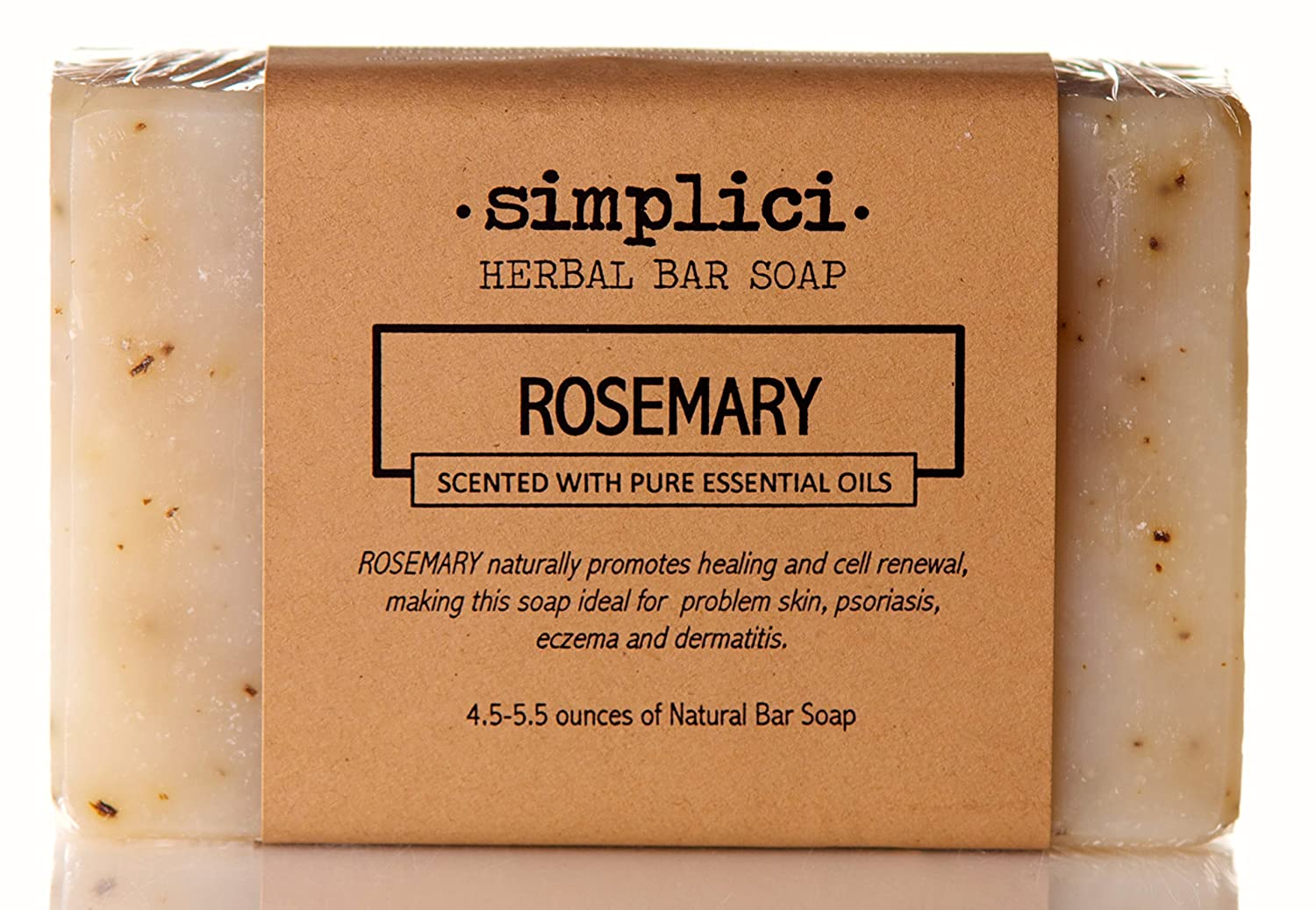 SIMPLICI Rosemary Natural Soap (scented with pure essential oils)