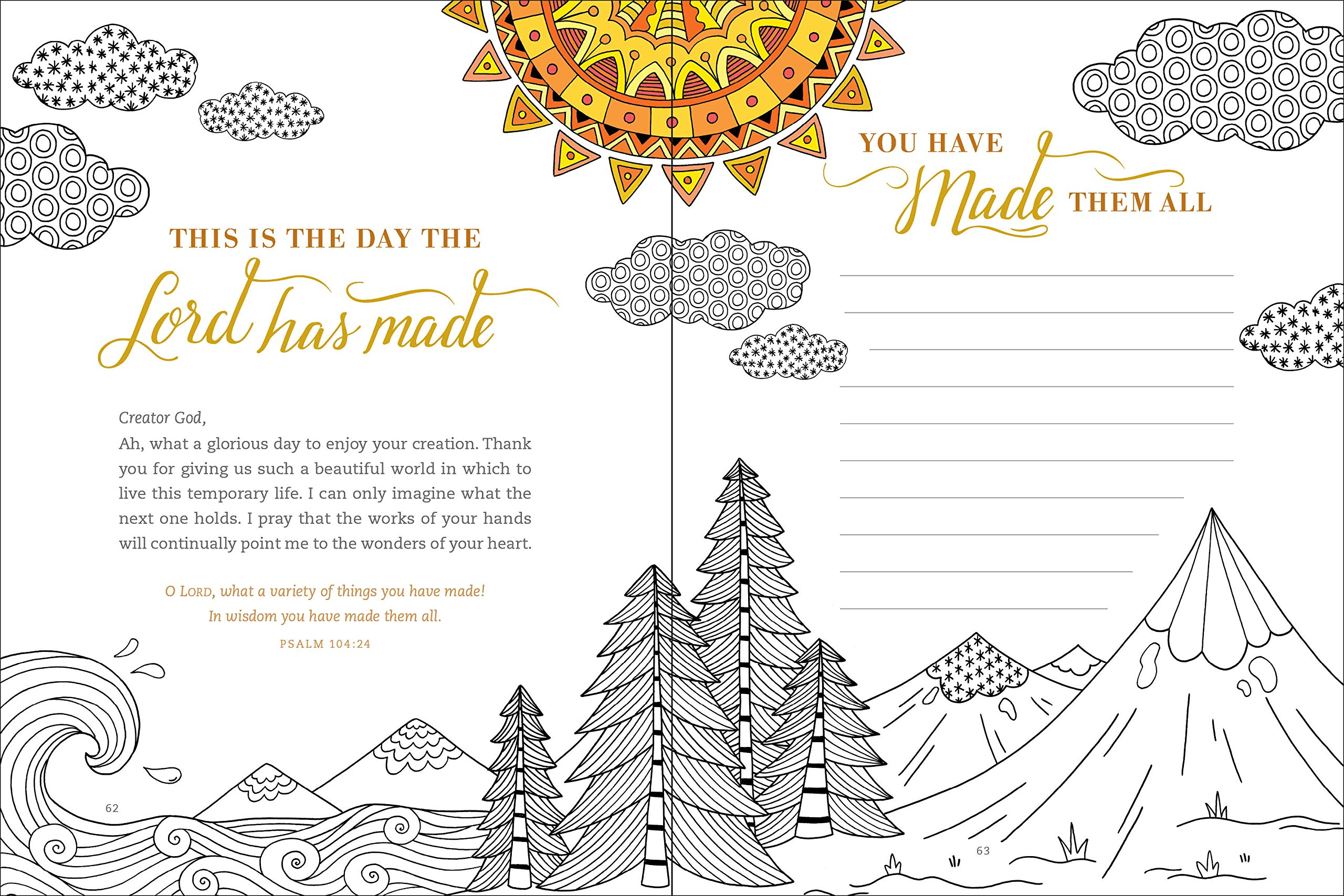 gratitude prayer and coloring journal