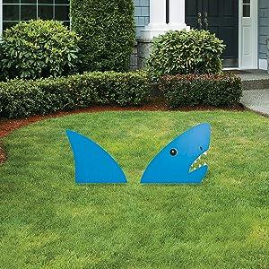 """""""land Shark"""" Shark Yard Sign - Shark Yard Decor"""