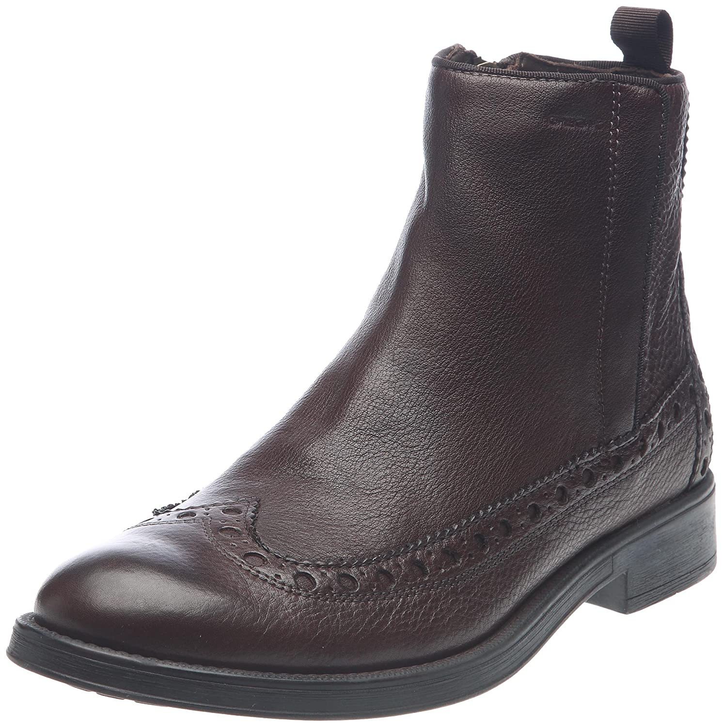 Soldes Marron Marron Geox Chaussures Boots Boots Cuir Blade