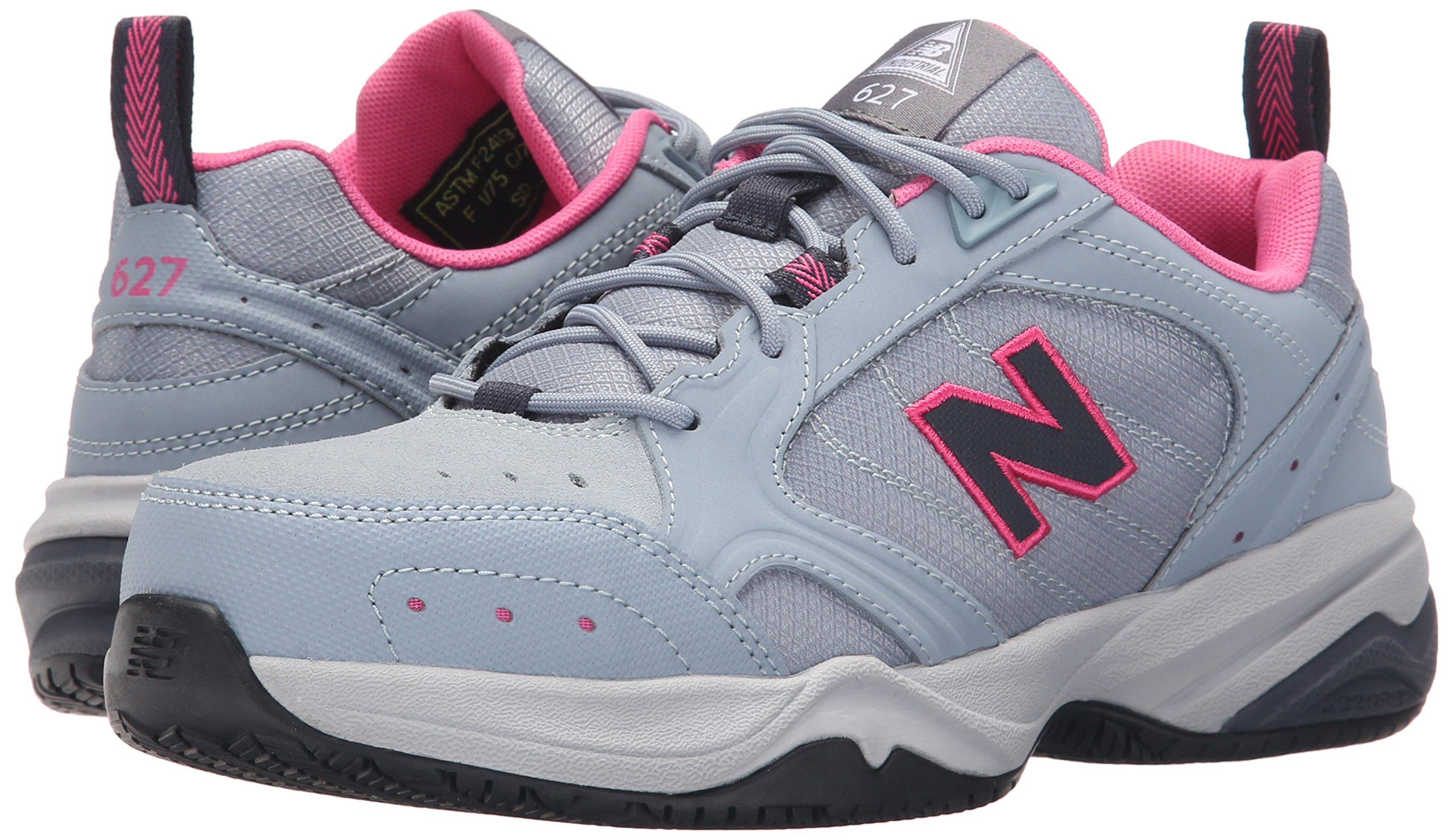 New Balance Women's WID627V1 Steel Toe Training Work Shoe,Light Grey/Pink,8 B US by New Balance (Image #6)