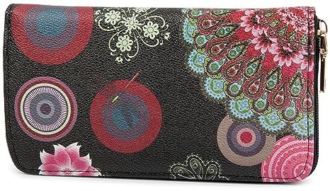 2041c8289b82f styleBREAKER Monedero de diseño con Motivo de Flores étnicas