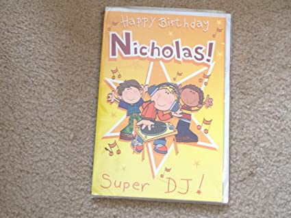 Image Unavailable Not Available For Color Happy Birthday Nicholas