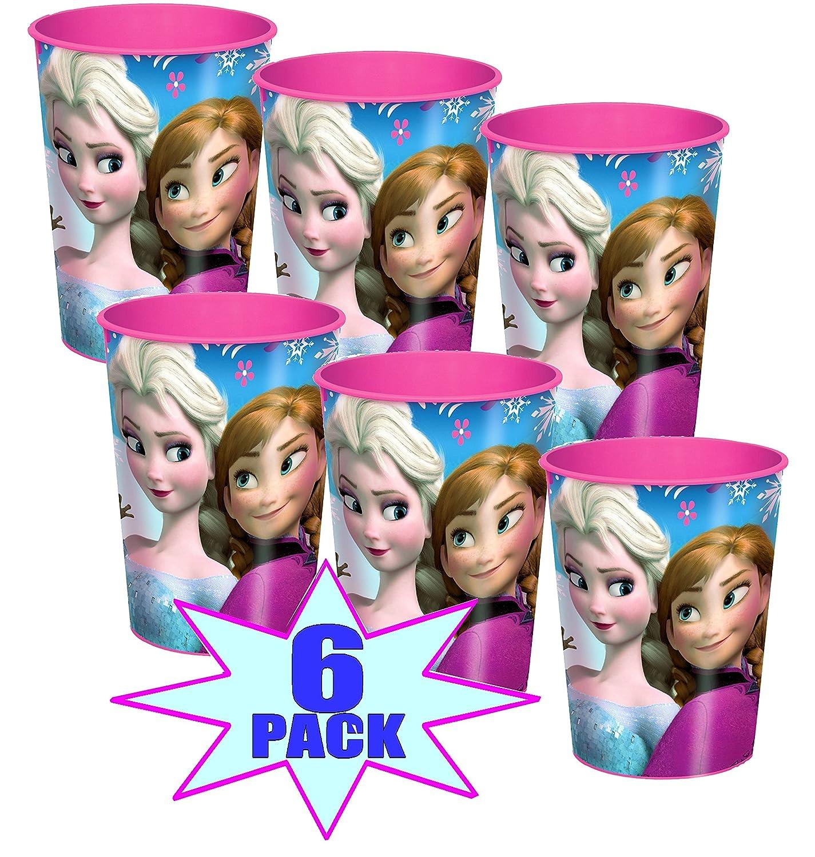 Disney Frozen Plastic Cups - 16 Oz - Pack of 6