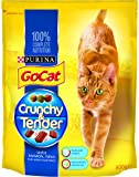 Go-Cat Crunchy and Tender Adult Dry Cat Food with Salmon, Tuna and Vegetables, 800 g - Pack of 4