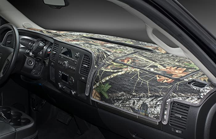 Coverking Custom Fit Dashboard Cover for Select Ford F-150/250/350 - Velour/Poly Cotton Canvas (Mossy Oak)