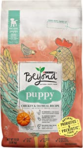 Purina Beyond Natural, High Protein Dry Puppy Food, Chicken & Oatmeal Recipe - 13 lb. Bag