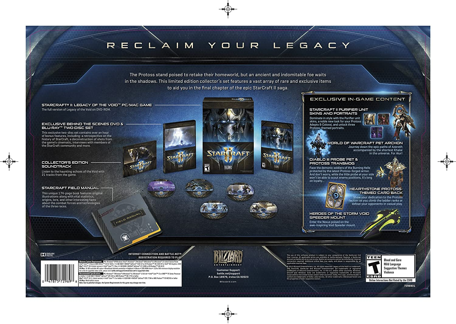 Amazon com: Starcraft II: Legacy of the Void - Collector's