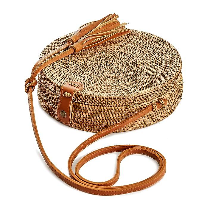 Amazon.com: Bolsos de mimbre para mujer, hechos a mano ...