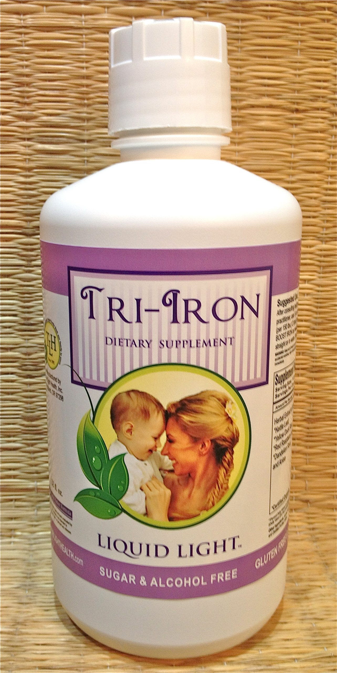 Tri Iron (32 oz Bottle) - High in Iron Herbs. Iron Safe Supplement for Pregnancy and Children.