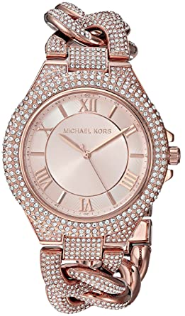 c2902b6240f2 Amazon.com  Michael Kors Women s MK3821 - Barber-Coleman Rose Gold One  Size  Watches