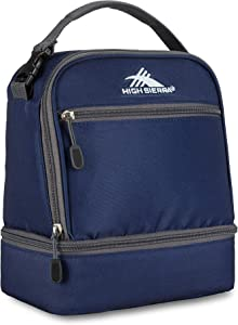High Sierra Stacked Compartment Lunch Bag, One Size, True Navy/Mercury