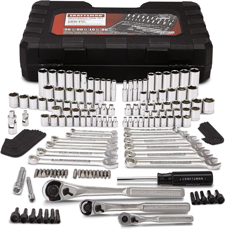 Craftsman 165 piezas de herramientas mecánicas para regalos del día del padre: Amazon.es: Bricolaje y herramientas