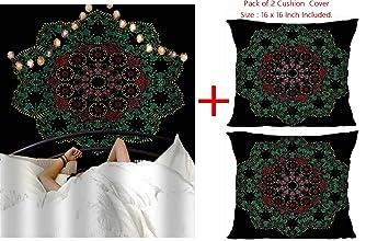 Orgner Tapiz Indio de Mandala y 2 Fundas de cojín 16 x 16 ...