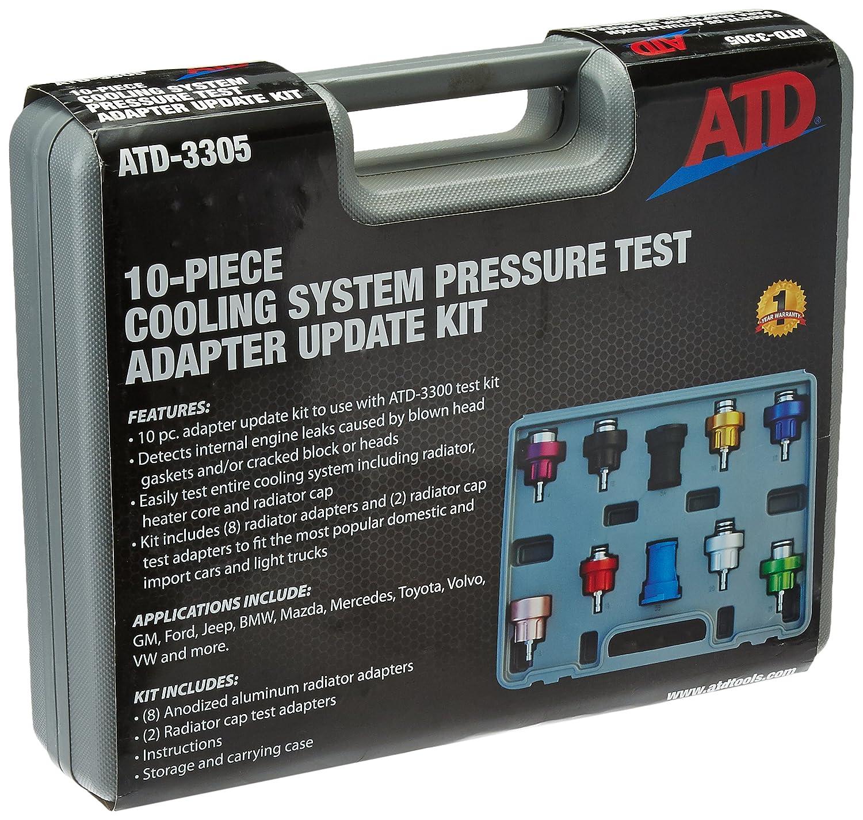 Diagnostic & Test Tools ATD Tools 3305 10-Piece Radiator Pressure ...