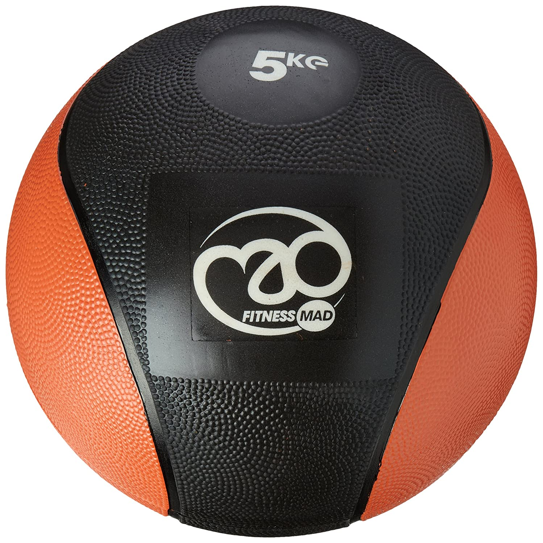 Fitness-Mad-Medicine Ball en PVC Orange/Noir 5 kg   B016AA5JJ0