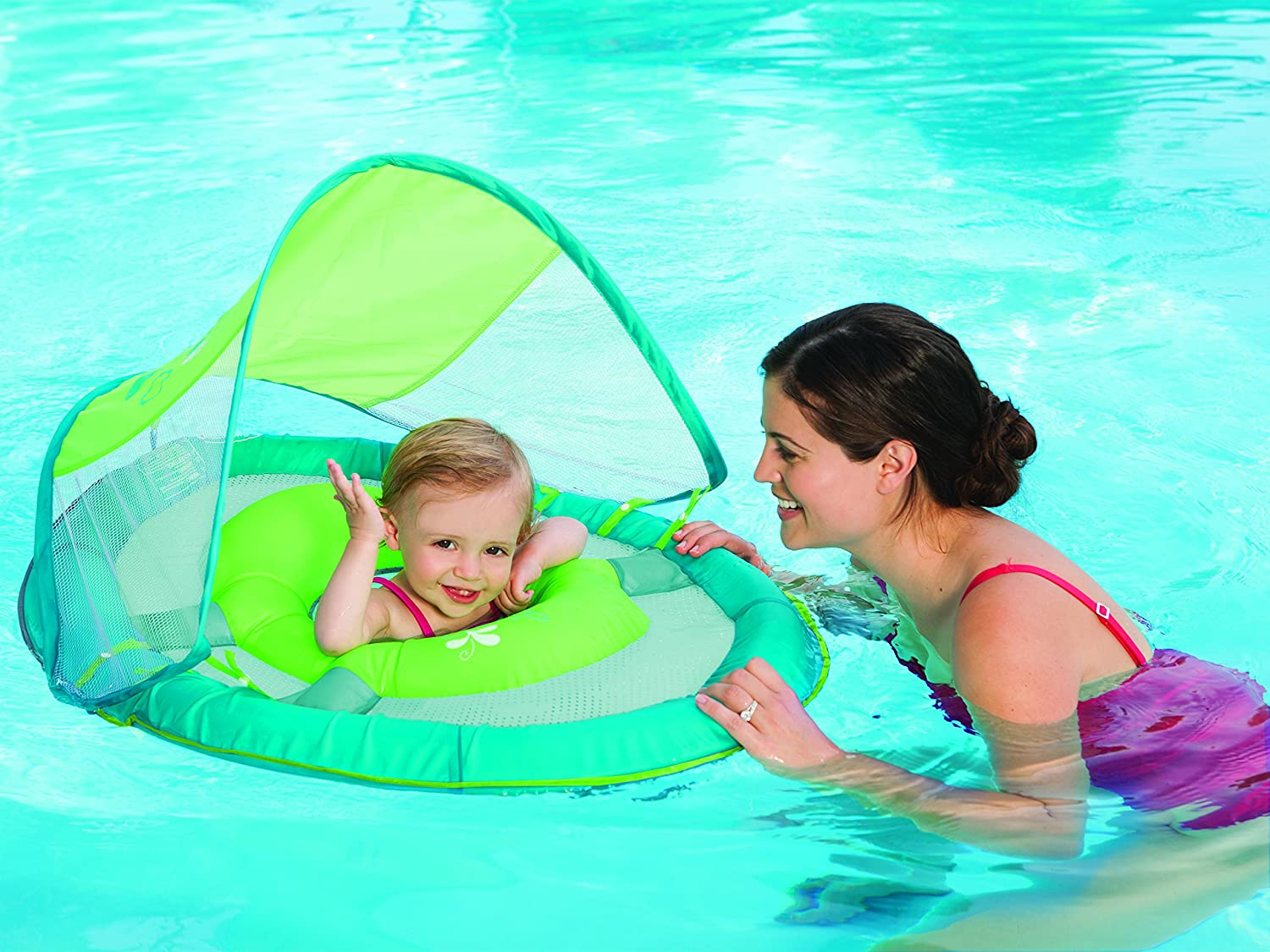 SwimWays Baby Spring Float Sun Canopy Green Swimways Corp Amazonca Toys Games