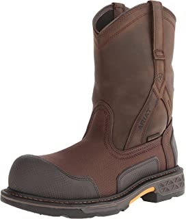 Men's Ariat OverDrive Wide Square Composite Toe Boot, Size: 8.5 D, Alamo Brown Full Grain Leather