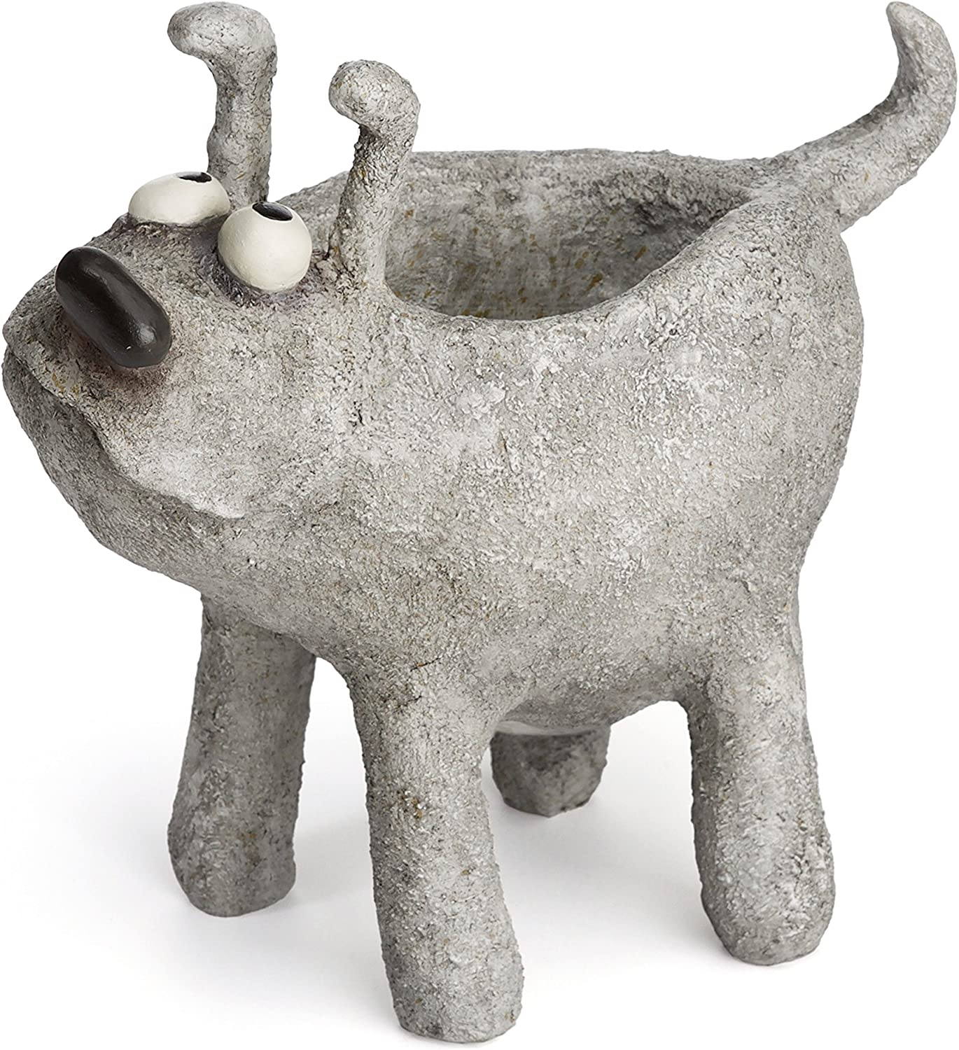Otto Jr, by Blobhouse, Decorative Planter w Drain Hole Statue for Home Outdoor Garden Lawn Indoor Art Accent Sculpture