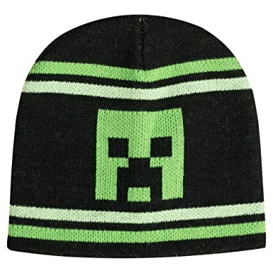 2cc3df14464 Image Unavailable. Image not available for. Color  JINX Minecraft Creeper  Stripe Fitted Beanie ...