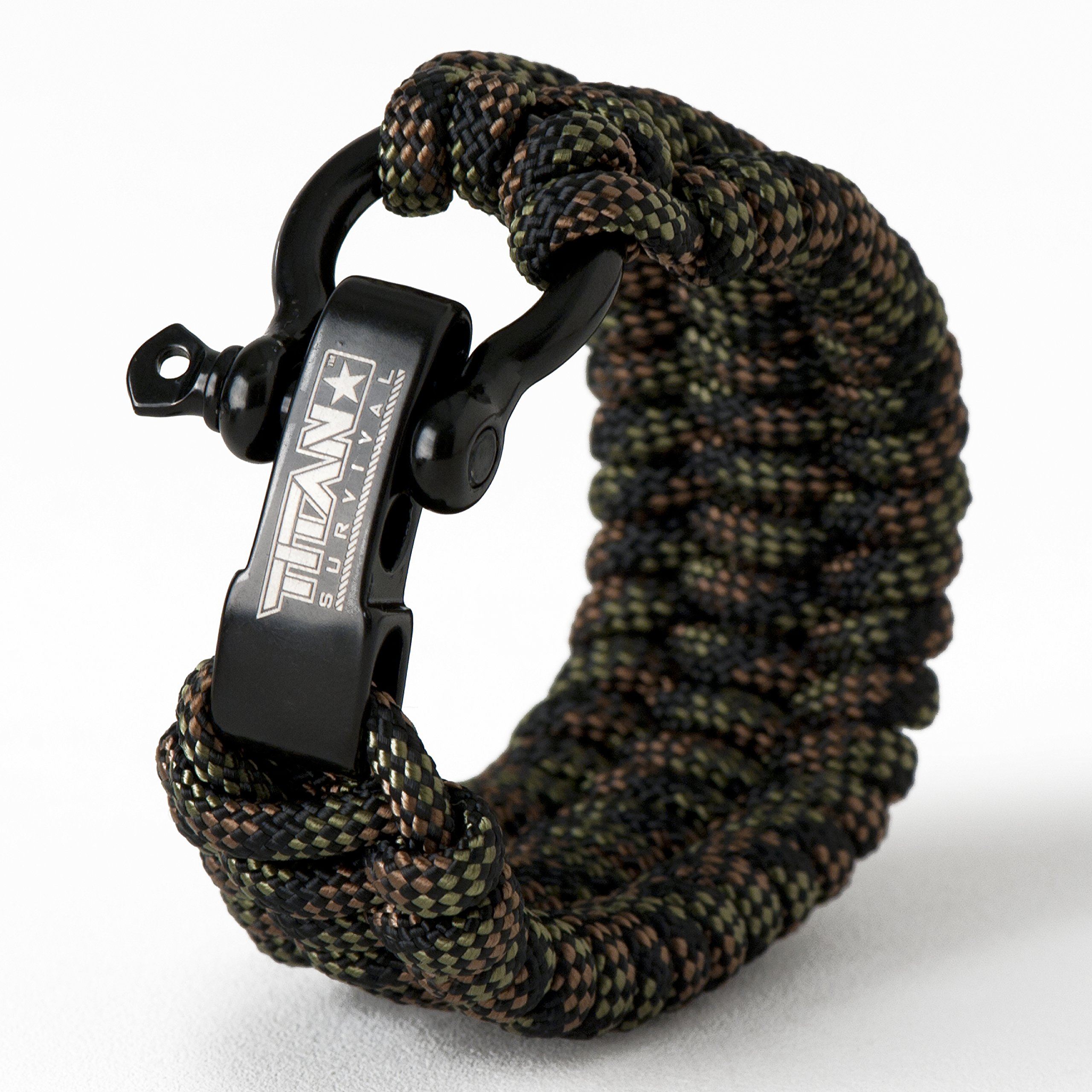 Titan Paracord Survival Bracelet | DRAGONSCALE | Large (Fits 8'' - 9'' Wrist) | Made with Authentic Patented SurvivorCord (550 Paracord, Fishing line, Snare Wire, and Waxed Jute for Fires).